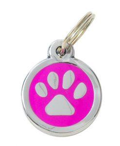 Luxury My Sweetie Pink Paw Designer Cat ID Tag