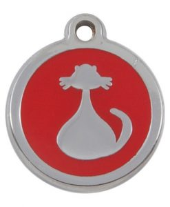 Luxury My Sweetie Red Cat Pet ID Tag