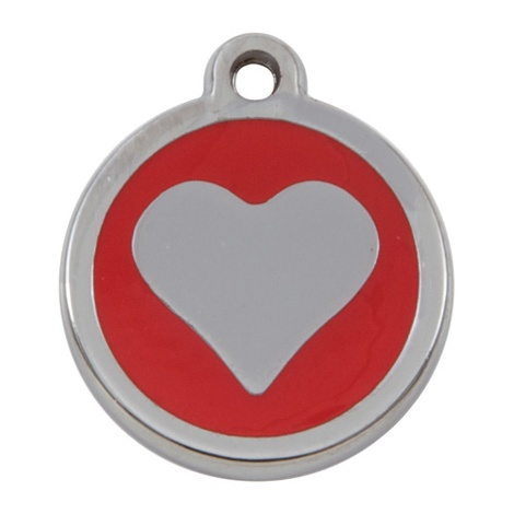 Luxury My Sweetie Red Heart Cat Pet ID Tag