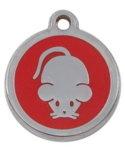 Luxury My Sweetie Red Mouse Cat Pet ID Tag