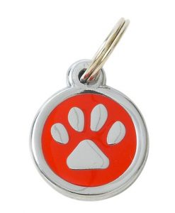 Luxury My Sweetie Red Paw Designer Cat ID Tag