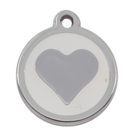 Luxury My Sweetie White Heart Cat Pet ID Tag