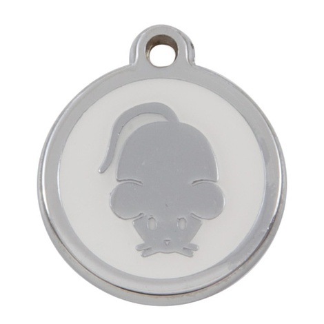 Luxury My Sweetie White Mouse Cat Pet ID Tag