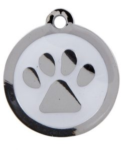 Luxury My Sweetie White Paw Designer Cat ID Tag