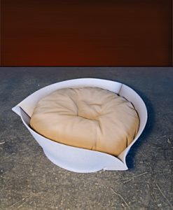 Luxury Nook Felt Cat Bed Grey Caramel