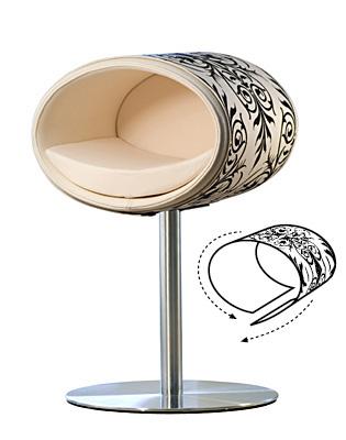 Luxury Ornament Rondo Cover Black Cream
