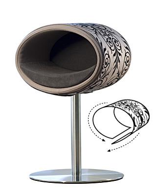 Luxury Ornament Rondo Cover Black Grey