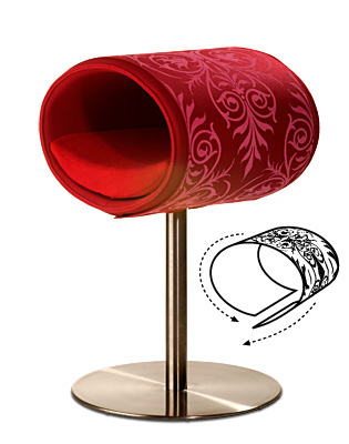 Luxury Ornament Rondo Cover Pink Red