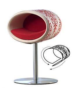 Luxury Ornament Rondo Cover Red Cream