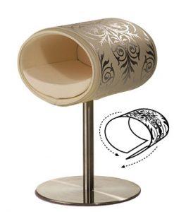 Luxury Ornament Rondo Cover Silver Cream