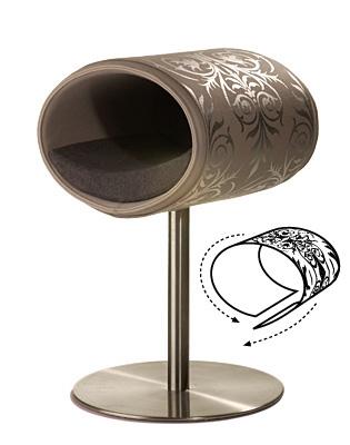 Luxury Ornament Rondo Cover Silver Light Grey