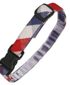 Luxury Red, White and Blue Check Cat Collar by Creature Clothes