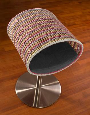 Luxury Rondo Crochet Cat Stand Graphite
