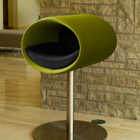 Luxury Rondo Felt Cat Stand Pea Green Felt