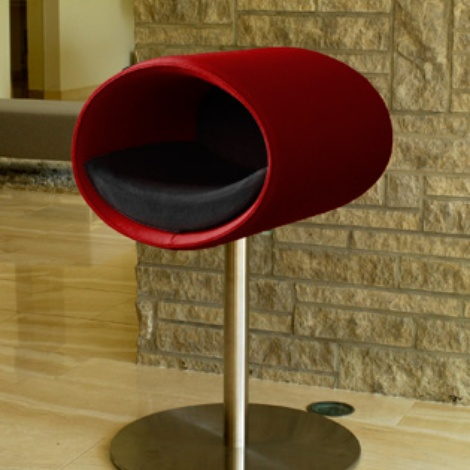 Luxury Rondo Felt Cat Stand Red Felt