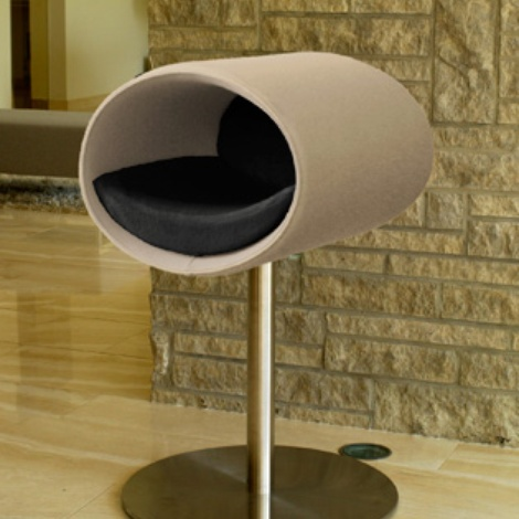 Luxury Rondo Felt Cat Stand Cream