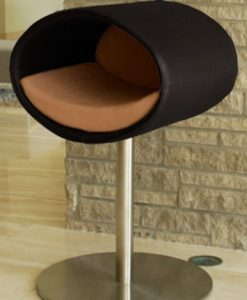 Luxury Rondo Real Leather Cat Stand Black