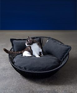 Luxury Siro Saleen Cat Basket Black Graphite
