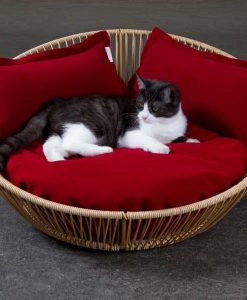 Luxury Siro Saleen Cat Basket Sahara Red