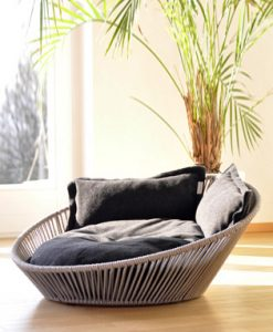 Luxury Siro Twist Cat Basket Graphite