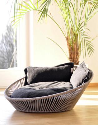 Luxury Siro Twist Cat Basket Graphite