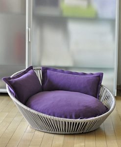 Luxury Siro Twist Cat Basket Violet