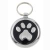 Luxury Smarties Black Paw Print Designer Cat ID Tag