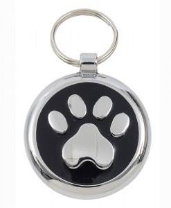 Luxury Smarties Black Paw Print Designer Cat ID Tag
