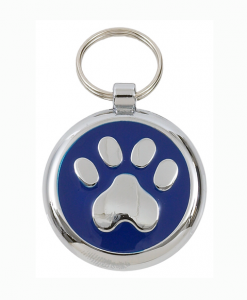 Luxury Smarties Blue Paw Print Designer Cat ID Tag