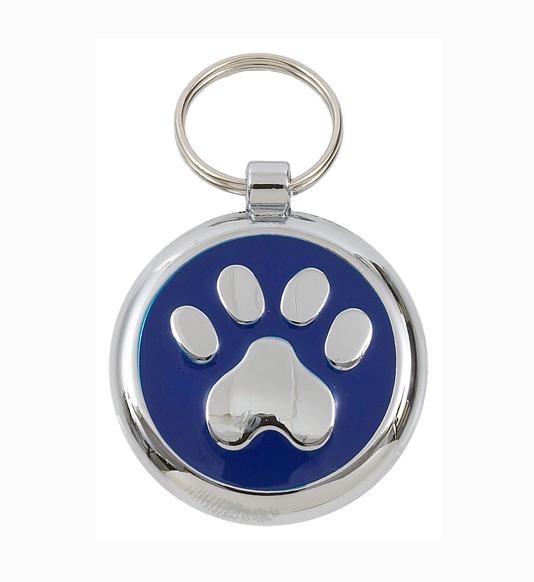 Luxury Smarties Blue Paw Print Designer Cat ID Tag