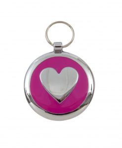 Luxury Smarties Deep Pink Heart Designer Cat ID Tag