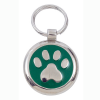 Luxury Smarties Green Paw Print Designer Cat ID Tag