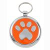 Luxury Smarties Orange Paw Print Designer Cat ID Tag