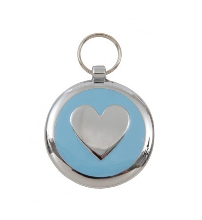 Luxury Smarties Pale Blue Heart Designer Cat ID Tag