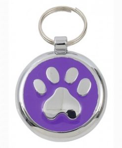 Luxury Smarties Purple Paw Print Designer Cat ID Tag