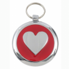 Luxury Smarties Red Heart Designer Cat ID Tag