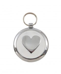 Luxury Smarties White Heart Designer Cat ID Tag