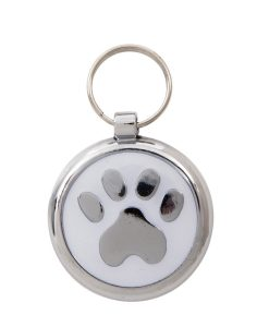 Luxury Smarties White Paw Print Designer Cat ID Tag