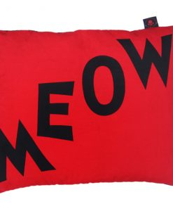 Meow Cat Nappa Black on Red by Creature Clothes