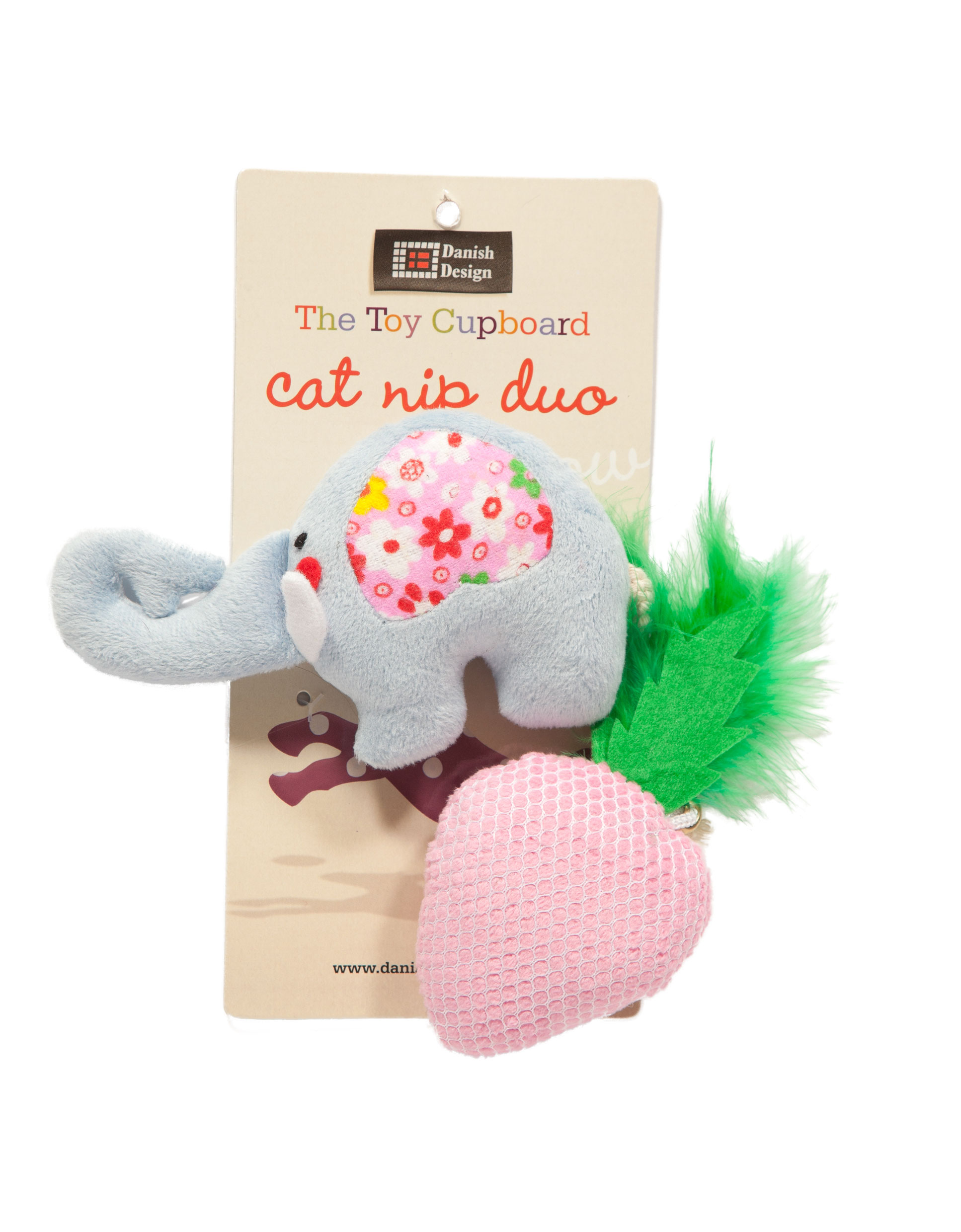 Nelly and Strawberry Catnip Duo Cat Toys