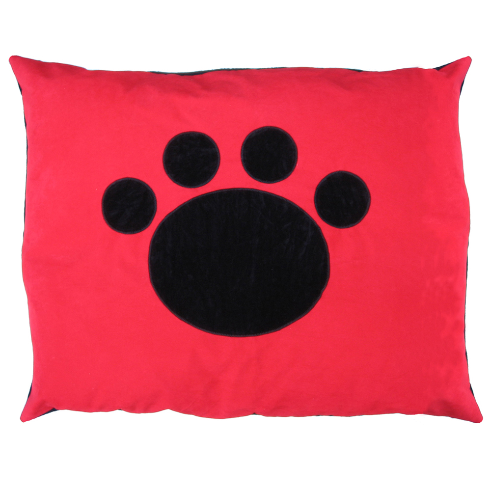 Paw Cat Nappa Black on Red by Creature Clothes
