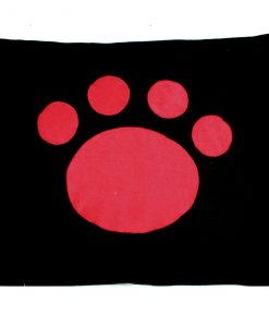 Paw Cat Nappa Red on Black by Creature Clothes