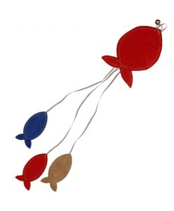 Red Flat Fish Cat Toy by Creature Clothes