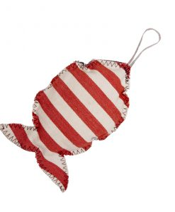 Red and White Fat Catnip Fish Cat Toy