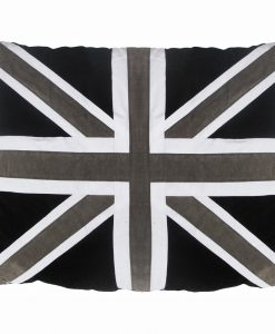 Union Jack Cat Nappa Black & Grey by Creature Clothes