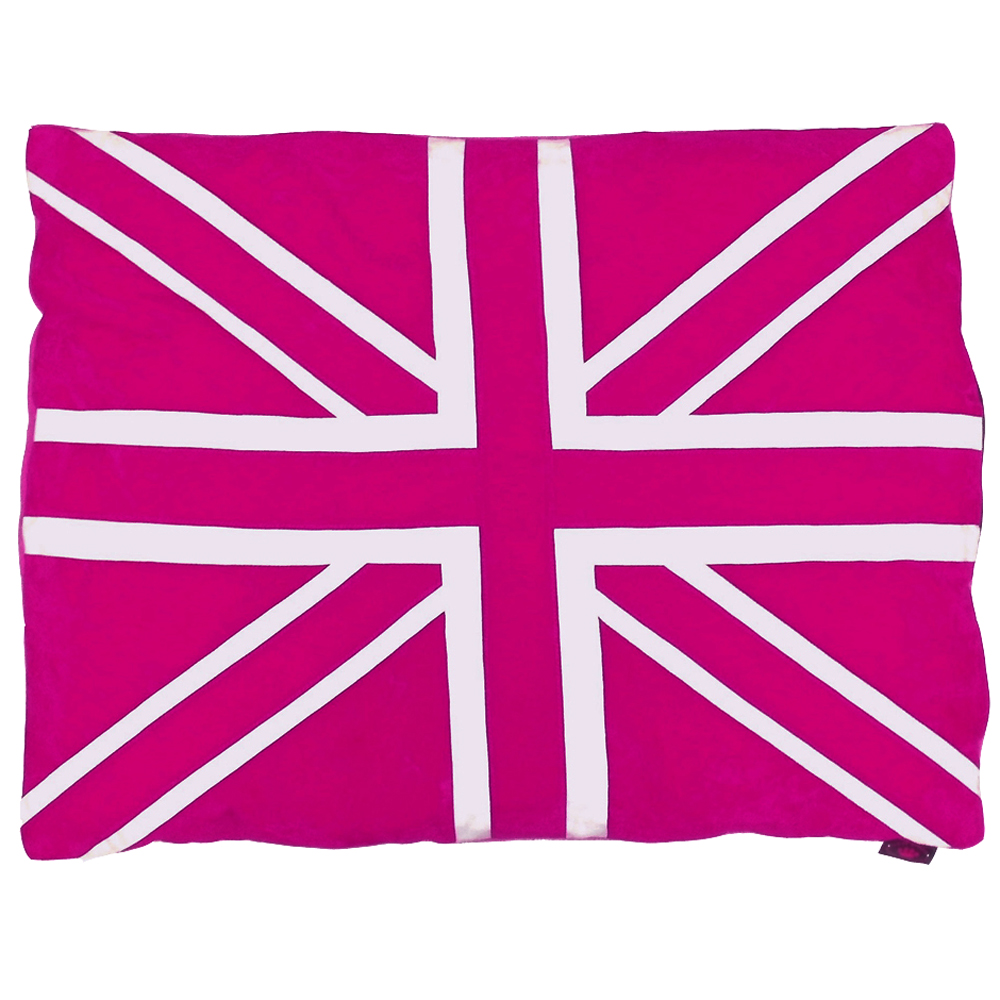 Union Jack Cat Nappa Pink by Creature Clothes
