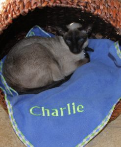 Luxury Personalised Cat Blanket Cornfield