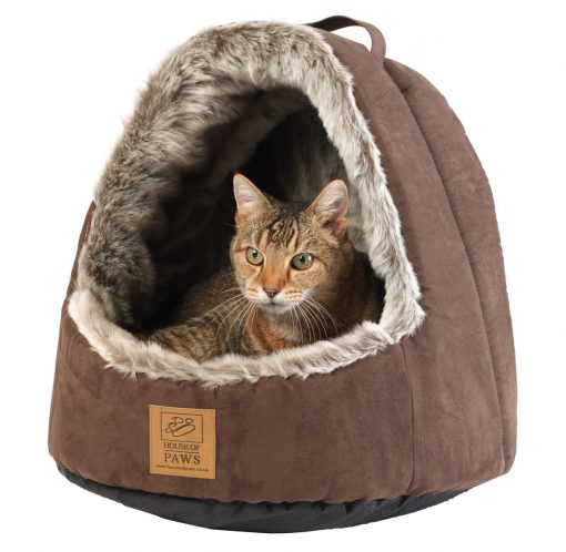 Arctic Fox Hooded Cat Bed by House of Paws