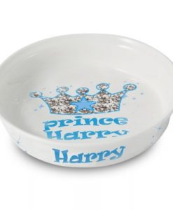 Bling Blue Personalised Prince Cat Bowl