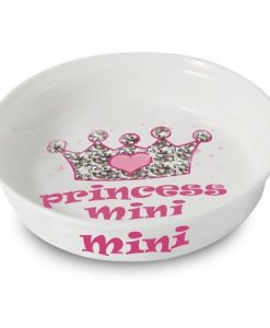 Bling Pink Personalised Princess Cat Bowl